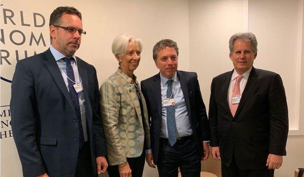 Sandleris, Lagarde, Dujovne y Lipton, este año, en Davos