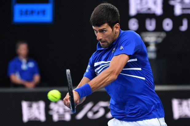 El serbio mostró un tenis sin fisuras (AFP)