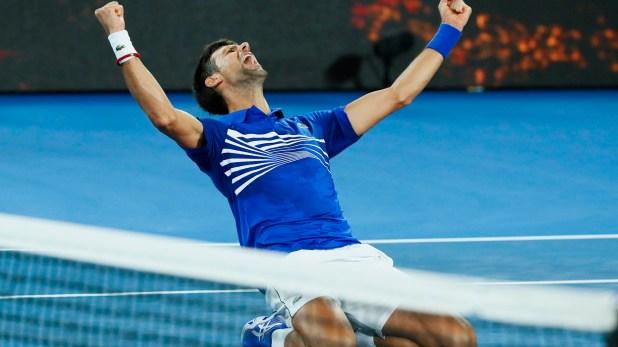 """""""Nole"""" ganó su tercer Grand Slam consecutivo (AFP)"""