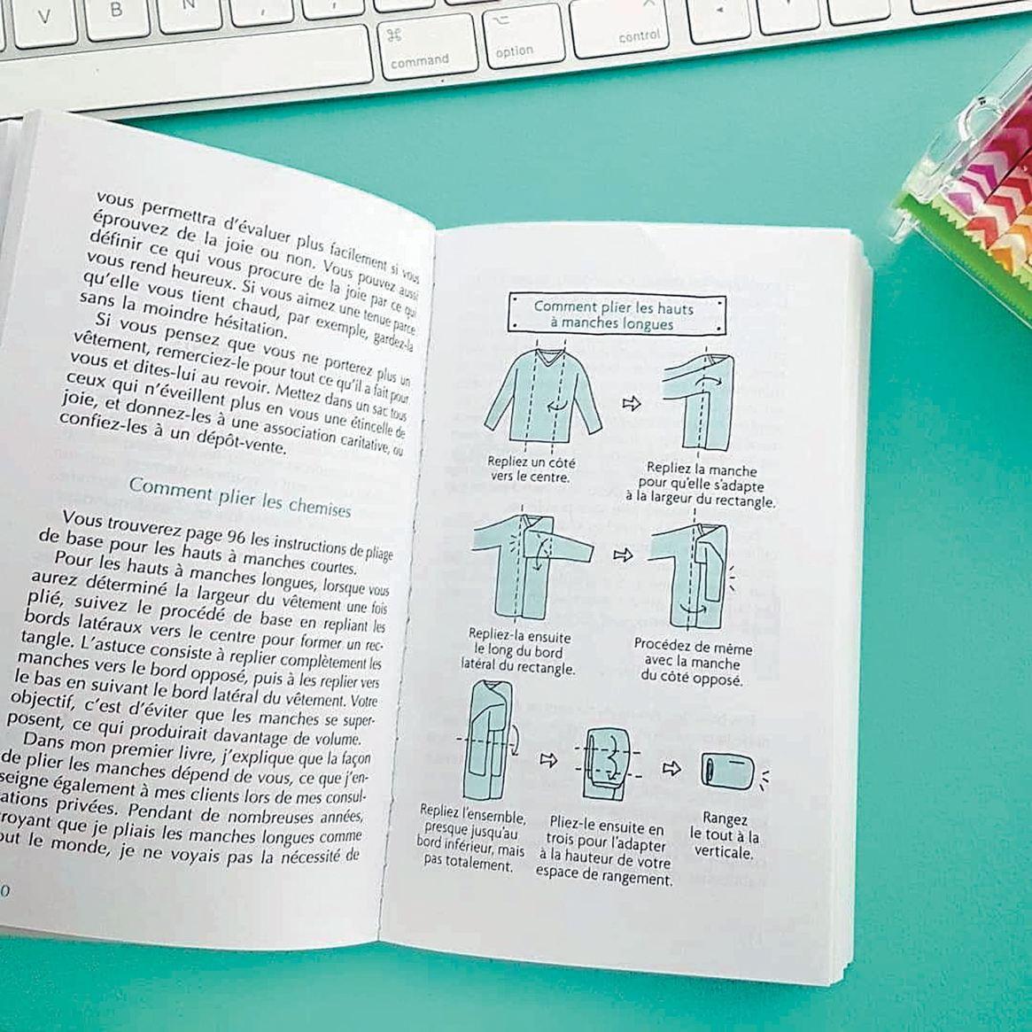 En su libro, Kondo da consejos acompañados con gráficos.