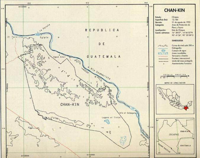 Mapa de Chan-Kin (Foto: Conanp)