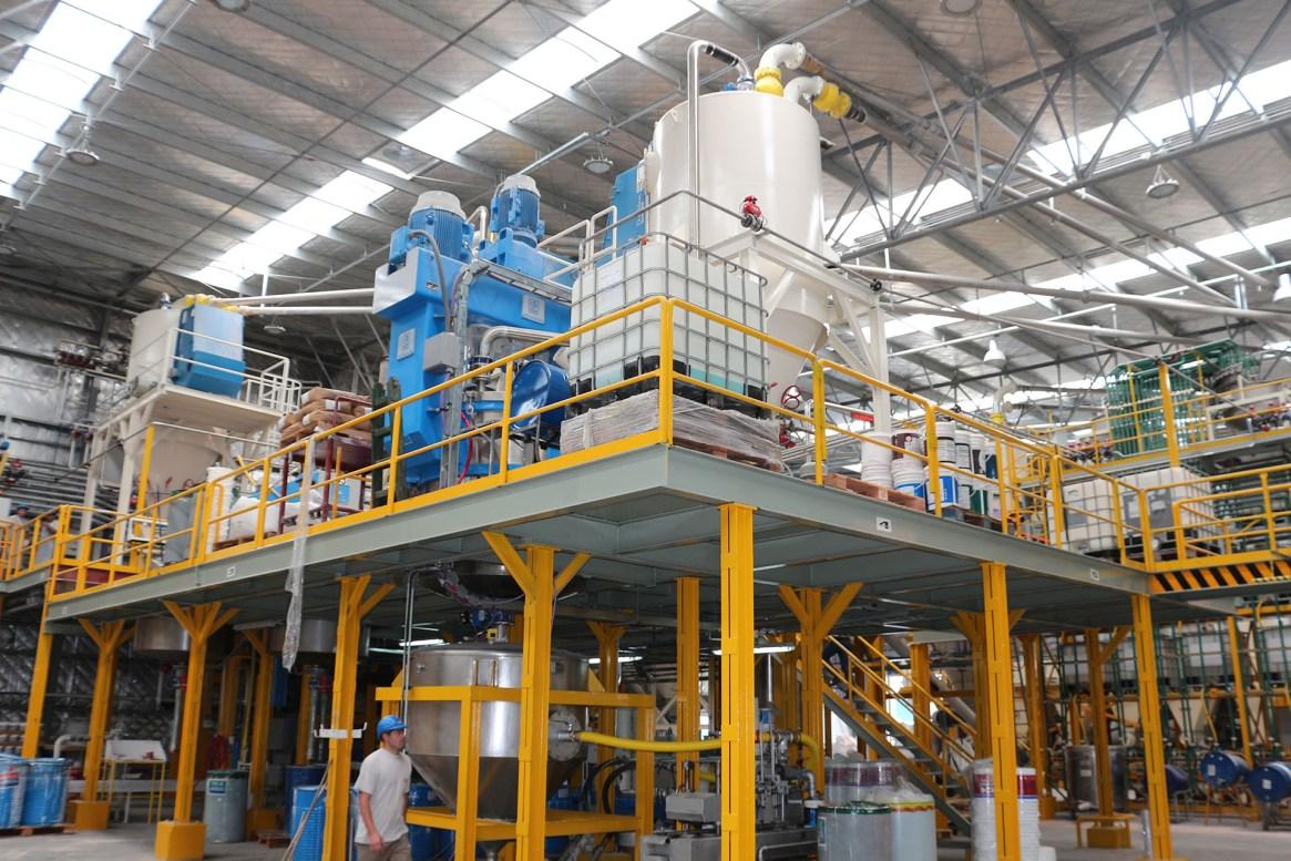 Planta de acuosos en la fábrica de la empresa en Ezeiza
