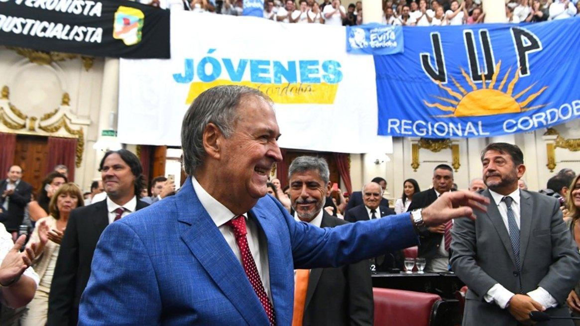Juan Schiaretti, en febrero, en la inauguración de las sesiones legislativas de Córdoba