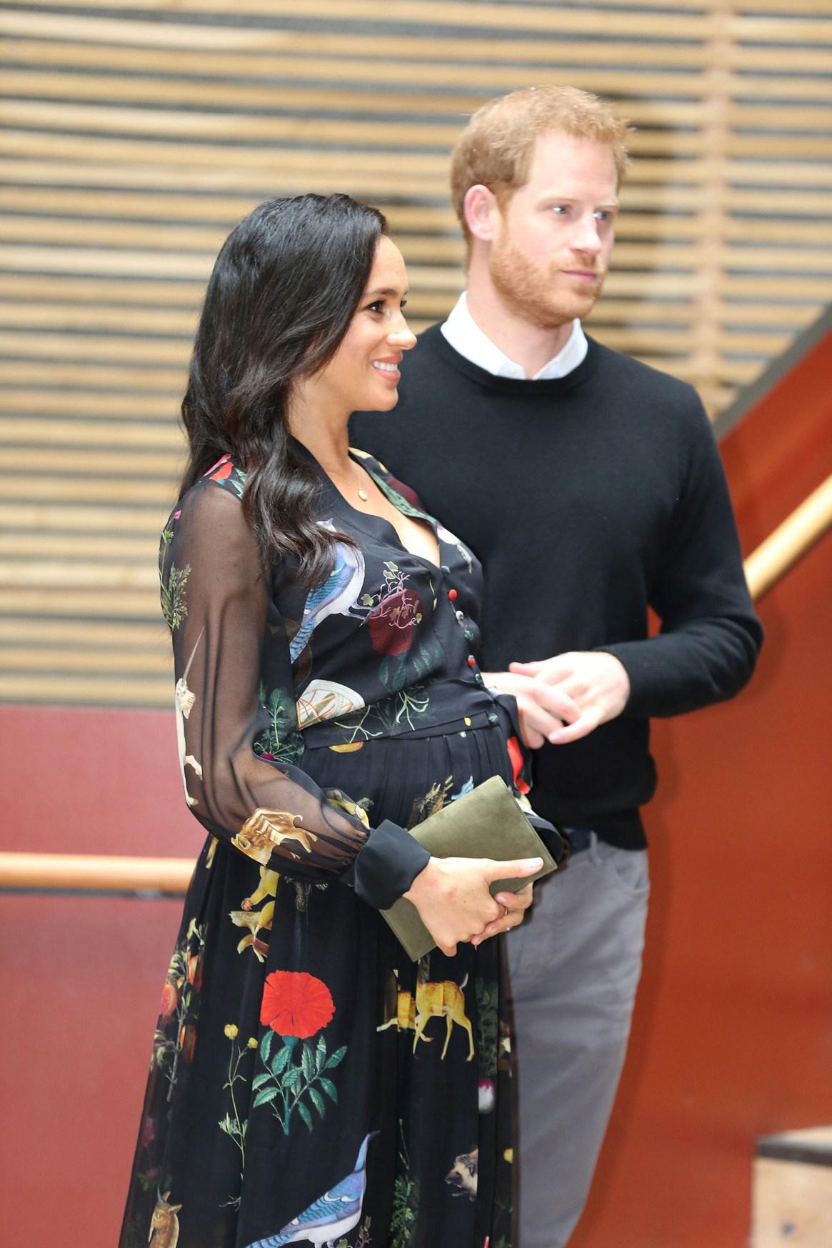 El 15 de octubre de 2018, el Palacio anunció el embarazo de Meghan Markle