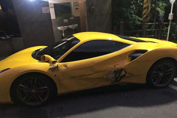 Joven chocó contra cuatro autos Ferrari. (Foto: Policía New Taipei City)