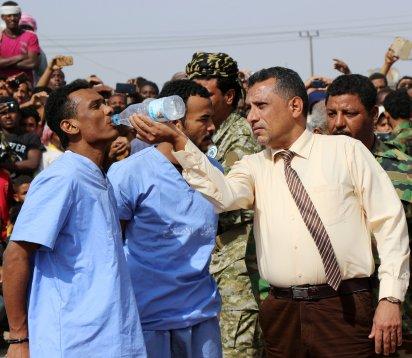 Los condenados recibieron agua antes de la ejecución