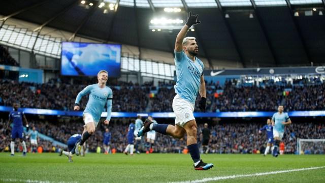 Agüero anotó tres tantos en la victoria 6-0 ante el Chelsea (Foto: Reuters)