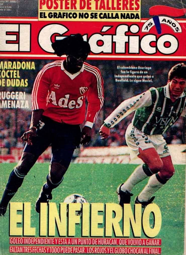 """Su primera vez en una tapa de """"El Gráfico"""" en agosto de 1994 (Archivo de El Gráfico de Maxi Roldán)"""