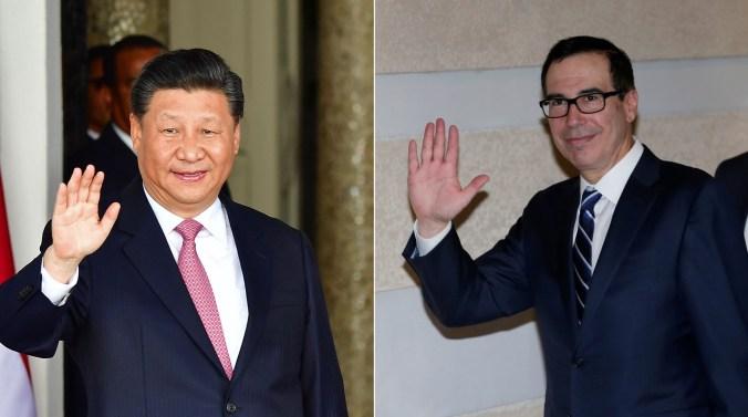 Xi Jinping y Steve Mnuchin