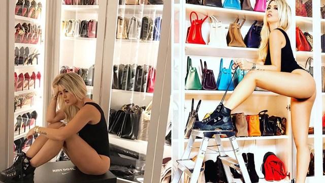 Wanda Nara tiene una gran colección de zapatos y carteras (Instagram)