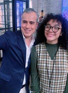 Abello y Elyfer Torres, la protagonista de la nueva versión de la historia (Instagram/ elyfertorres)