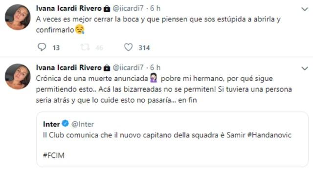 Los tuits de Ivana Icardi