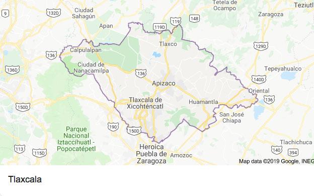 Tlaxcala es conocido por ser epicentro de trata de personas (Foto: Google maps)