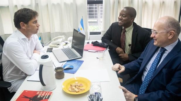 Los enviados del FMI y Axel Kicillof, en la anterior visita del organismo