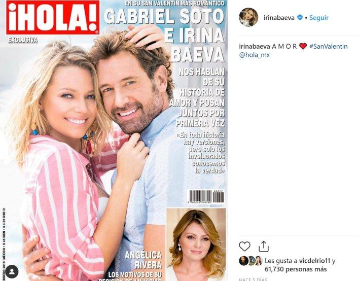Así lucieron su amor Irina y Gabriel Soto el pasado febrero