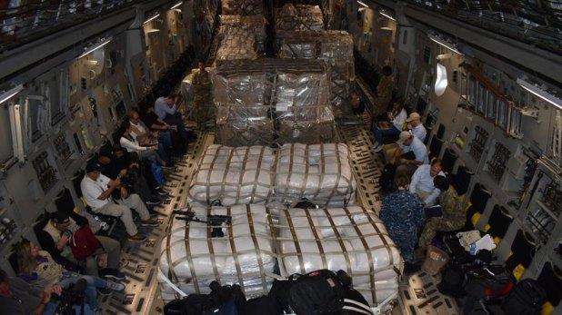 Parte de la ayuda humanitaria enviada hacia Venezuela