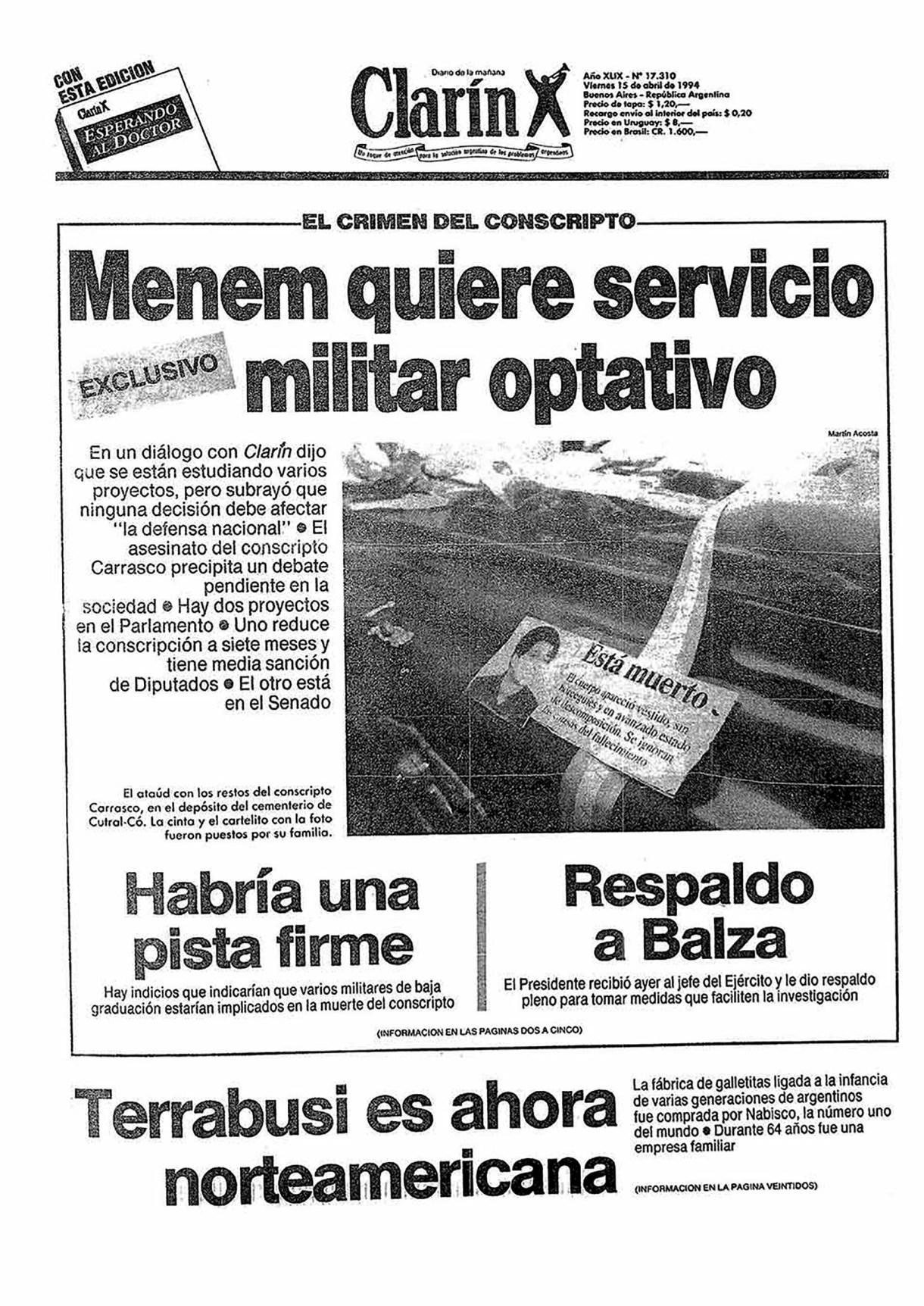Clarin caso carrasco SF 14 abril 1994