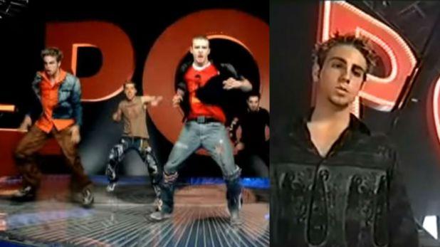 """En el video de """"Pop"""" se puede ver a Robson como si se tratara de Joey Fatone (Foto: YouTube NSYNC)"""
