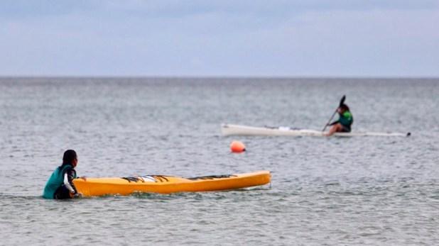 La rionegrina Cecilia Collueque se quedó con el primer lugar en canotaje durante la primera jornada
