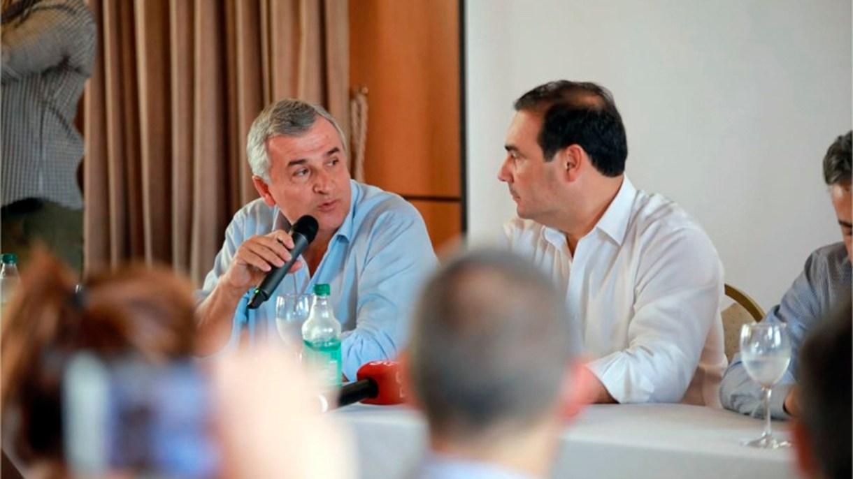 Los gobernadores de Jujuy, Gerardo Morales, y de Corrientes, Gustavo Valdés
