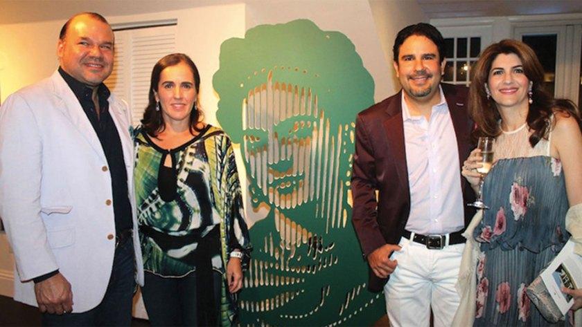 Ernesto Weisson y Roberto Cortes en una presentación de sus proyectos (Brickell Magazine).