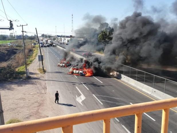 Bloqueos en el municipio de Villagrán. (Foto: Cuartoscuro)