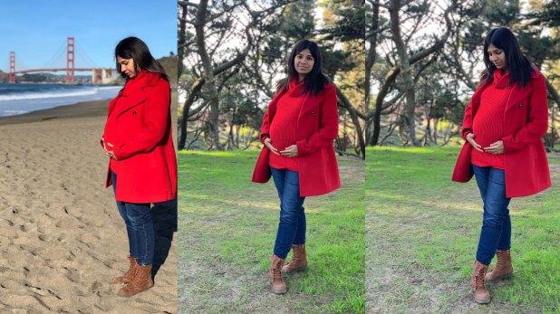 Revati Bordawekar durante el embarazo