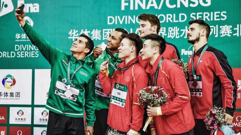 El Comité Olímpico y la Sedena felicitó a los clavadistas(Foto: @Rommel_Pacheco)