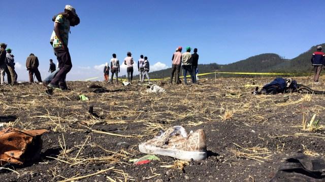 El lugar donde se estrelló este domingo el vuelo de Ethiopian Airlines (Reuters)