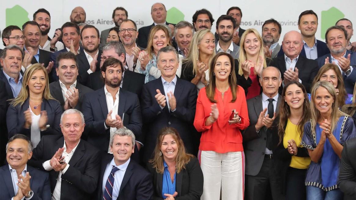 Esta semana, Macri fue a una reunión de gabinete del gobierno bonaerense