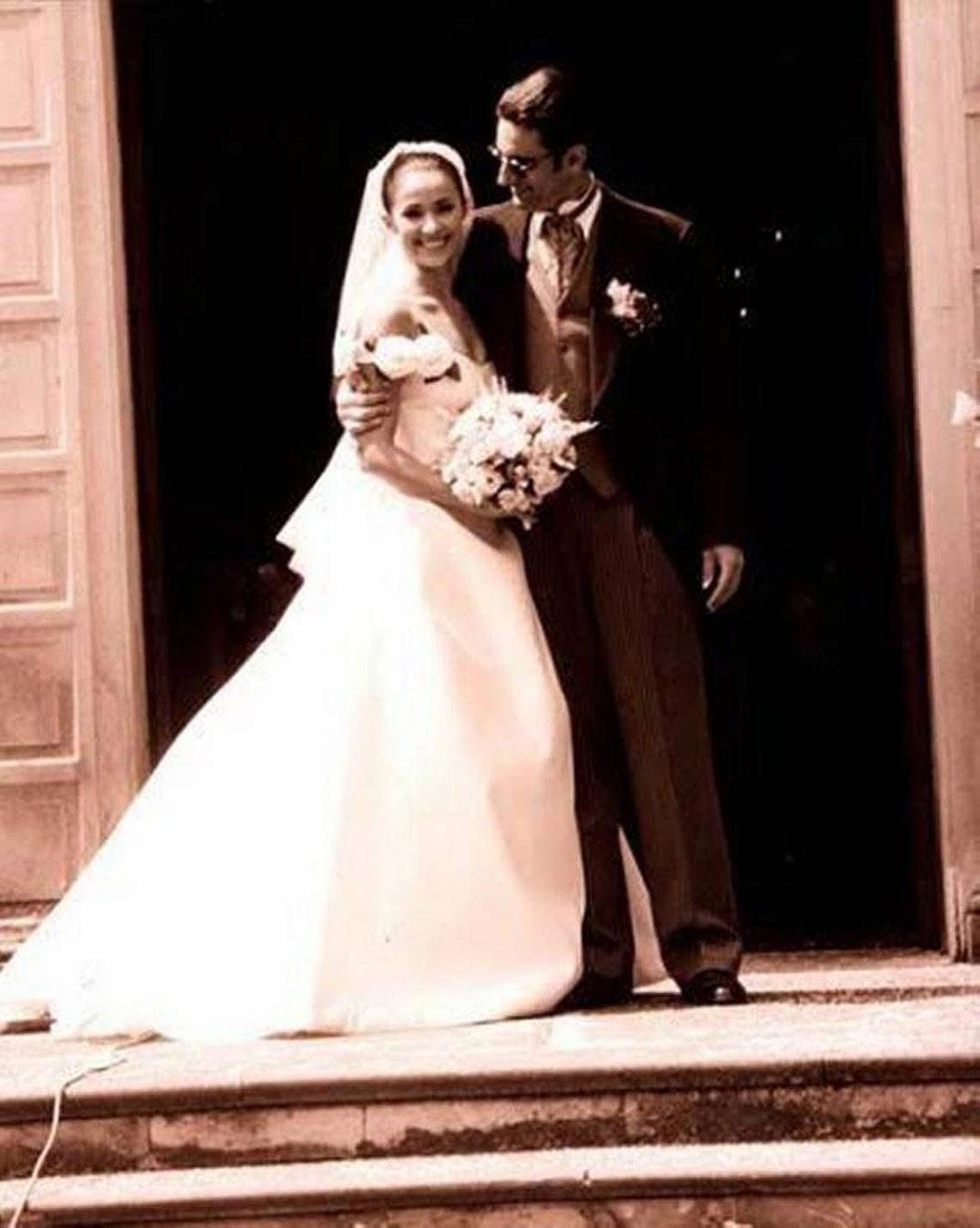 Miguel Varoni y Chatherine Siachoque el día de su boda.