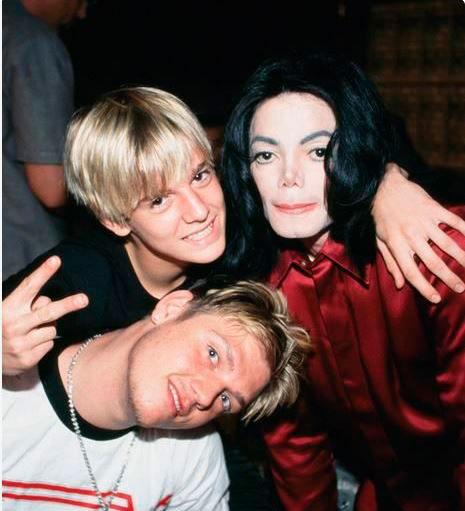 Aaron y Nick Carter eran amigos cercanos de Michael Jackson (Foto: pinterest)