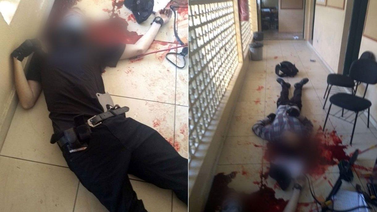 Las imágenes de los tiradores que luego se suicidaron, difundidas por la Policía Militar