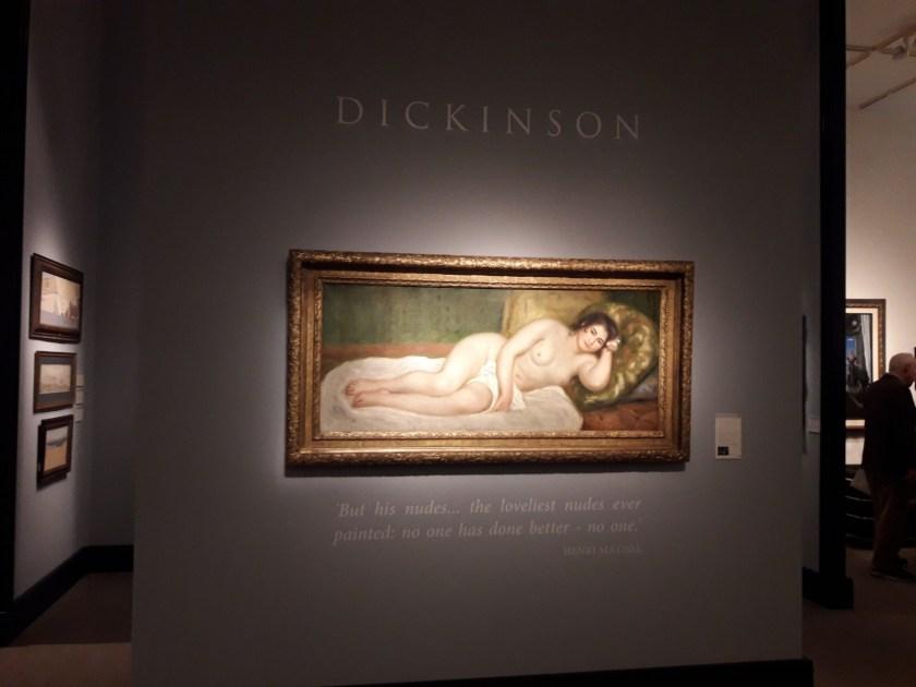 """""""Femme nue couchée"""", de Renoir, en Dickinson"""