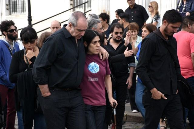 Araceli, la hija de Fabián Matus, en el último adiós a su papá