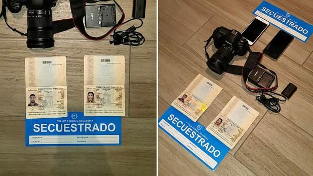 La pareja ingresó a la Argentina el 12 de marzo