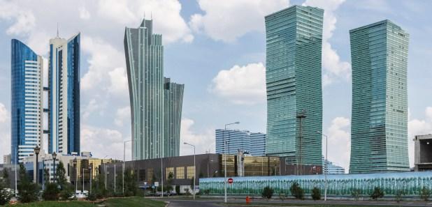 Vista del centro de Astaná (Wikipedia)