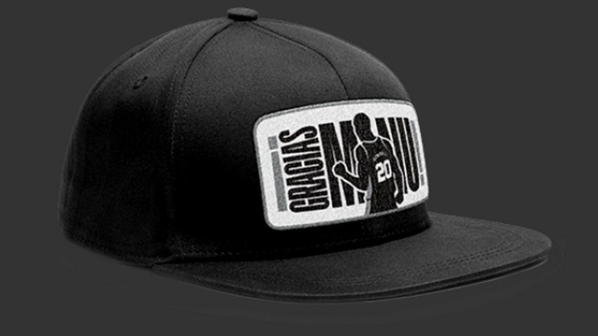 La gorra que se llevarán los fanáticos de los San Antonio Spurs que asistan al partido