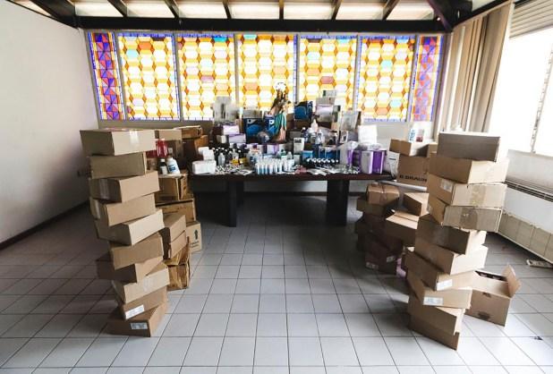 Juan Guaidó entregó este jueves ayuda humanitaria