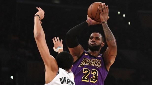 James no pudo lograr el objetivo de clasificar a los playoffs en su primera temporada en los Lakers., (USA TODAY Sports)