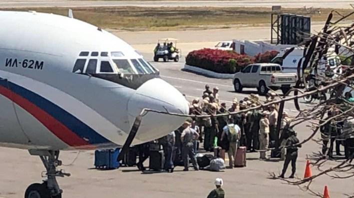 Los aviones rusos que aterrizaron en marzo en Venezuela con militares de ese país