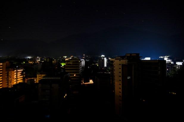 Caracas sin luz (Juan BARRETO / AFP)