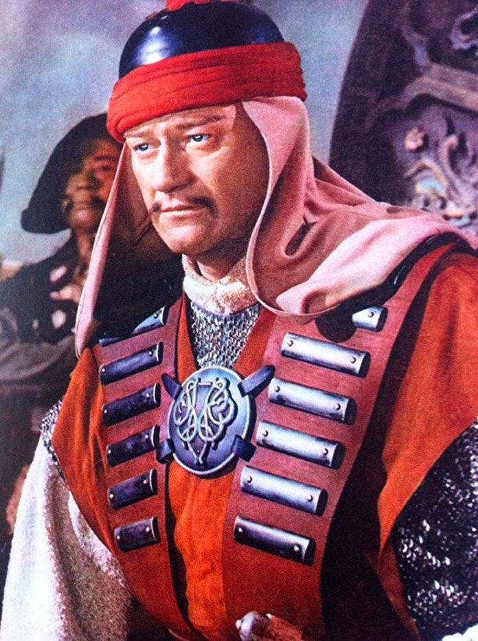 John Wayne, en The Conqueror. Murió de cáncer de estómago en 1979