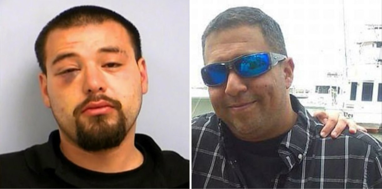 El fin de semana pasado Eric García fue golpeado por el ex novio de su hija, Jaime Apodaca, dando como resultado que cayera y se fracturara el cráneo Fotos: (Policía Texas y Facebook)