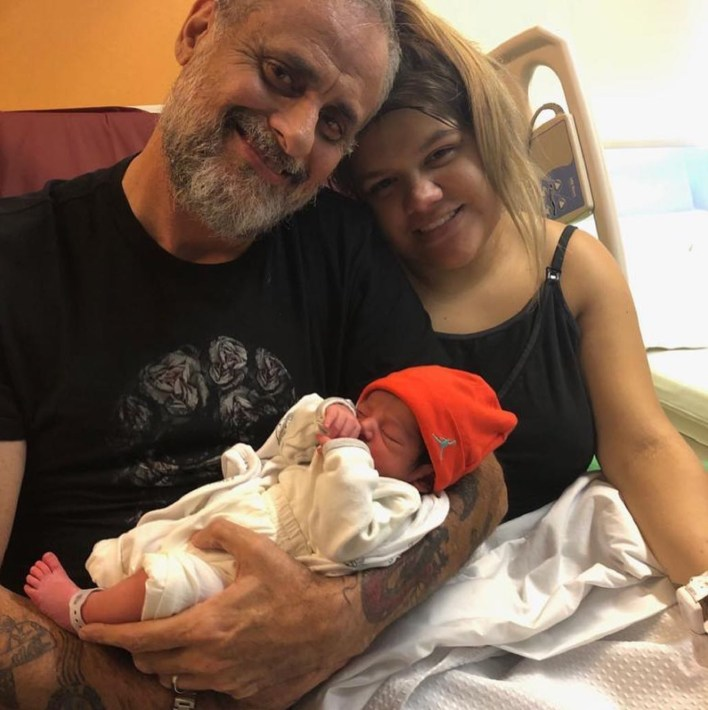 Jorge con su nieto y su hija (Instagram)