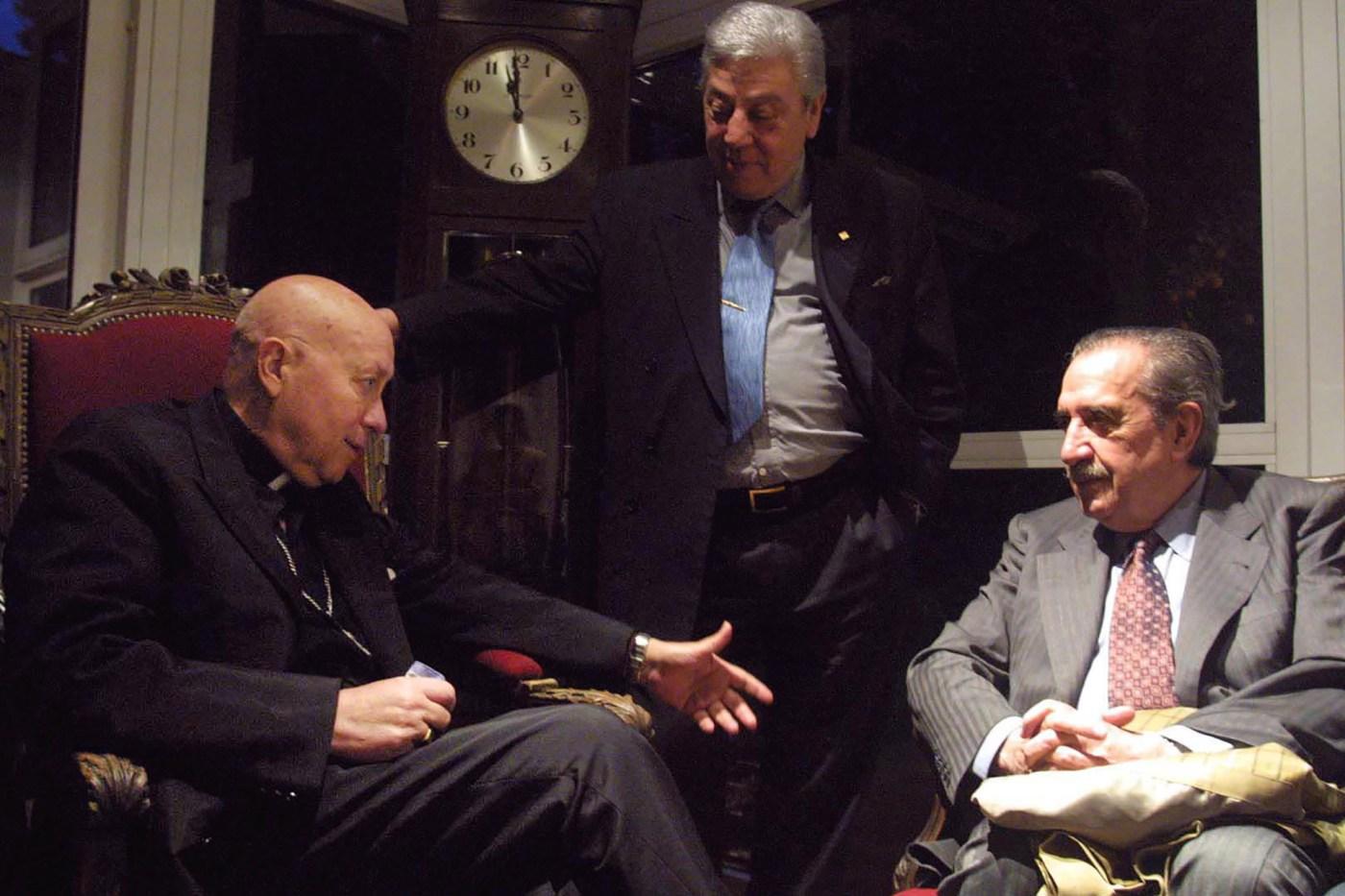 Como candidato a senador nacional se reunió con el obispo Justo Laguna en el Arzobispado de Morón