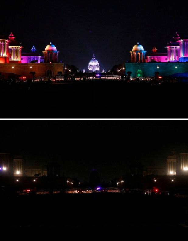 El centro político de Nueva Delhi, India