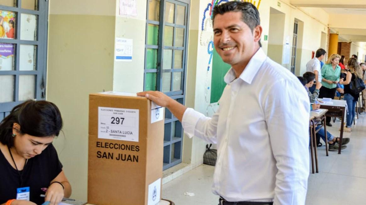 El candidato de Cambiemos, Marcelo Orrego (Foto: Adrián Carrizo)