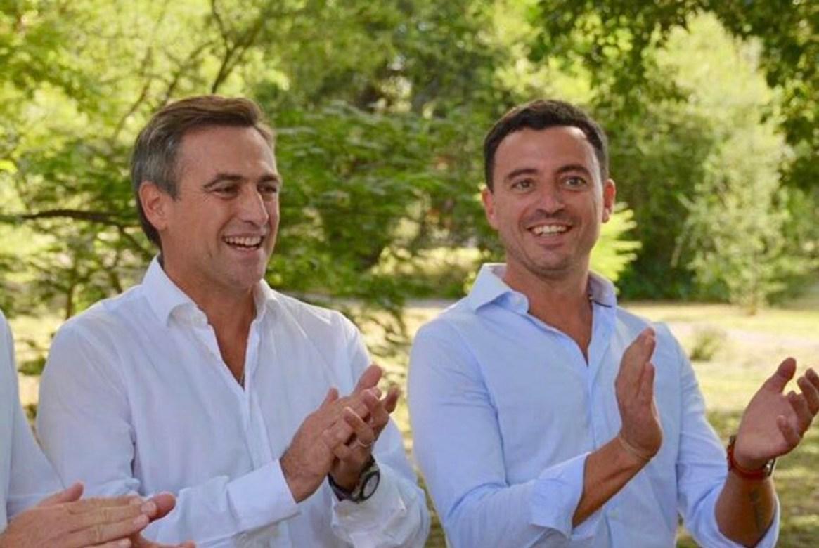 Ramón Mestre y su candidato a intendente en la capital, Rodrigo de Loredo