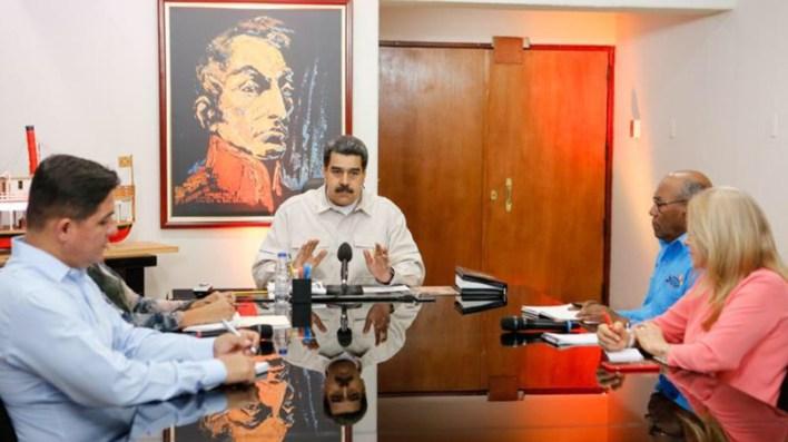 Desde el 16 de marzo, Maduro dejó la oficia presidencial de Miraflores (Twitter: @NicolasMaduro)